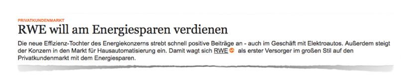 RWE will am Energiesparen verdienen